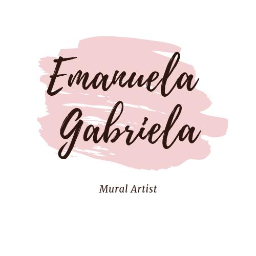 Mural artist Emanuela Gabriela